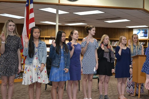 CHS students inducted into National Honor Society