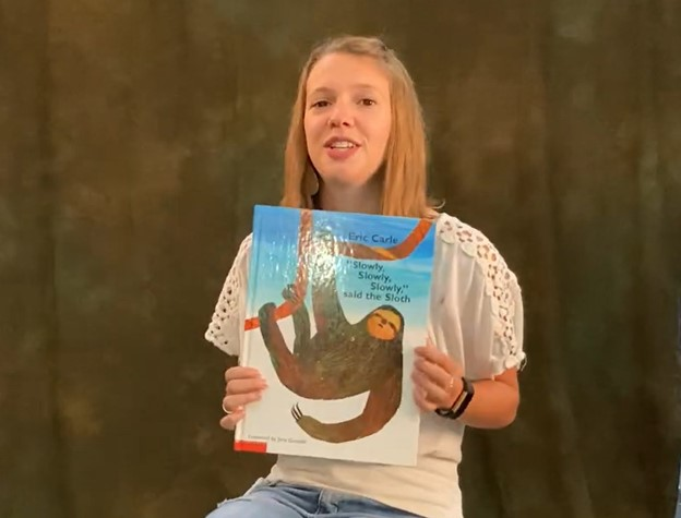 "CSD Storytime: Ms. Denney Reads ""Slowly, slowly, slowly,"" said the sloth"" By Eric Carle"
