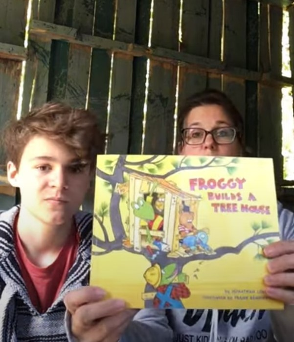 "CSD Storytime- Ann Kief reads ""Froggy Builds A Tree House"" By Jonathan London & Frank Remkiewicz"