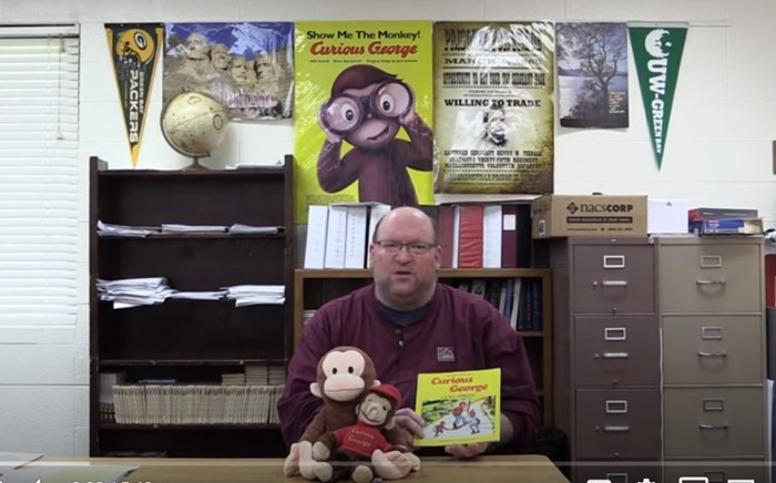 "CSD Storytime- Mr Douglas Kliment reads ""Curious George Goes Hiking"" By: Margret Rey & Alan Shalleck"