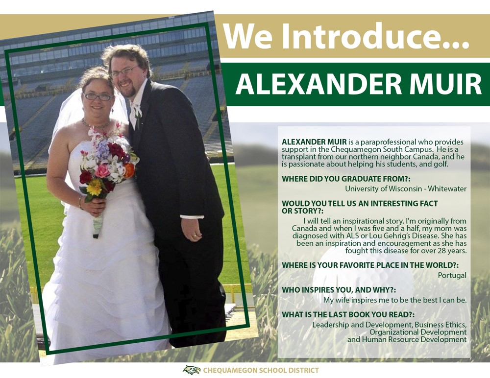 We Introduce feature - Alexander Muir