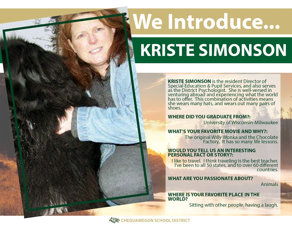 We Introduce Kriste Simonson