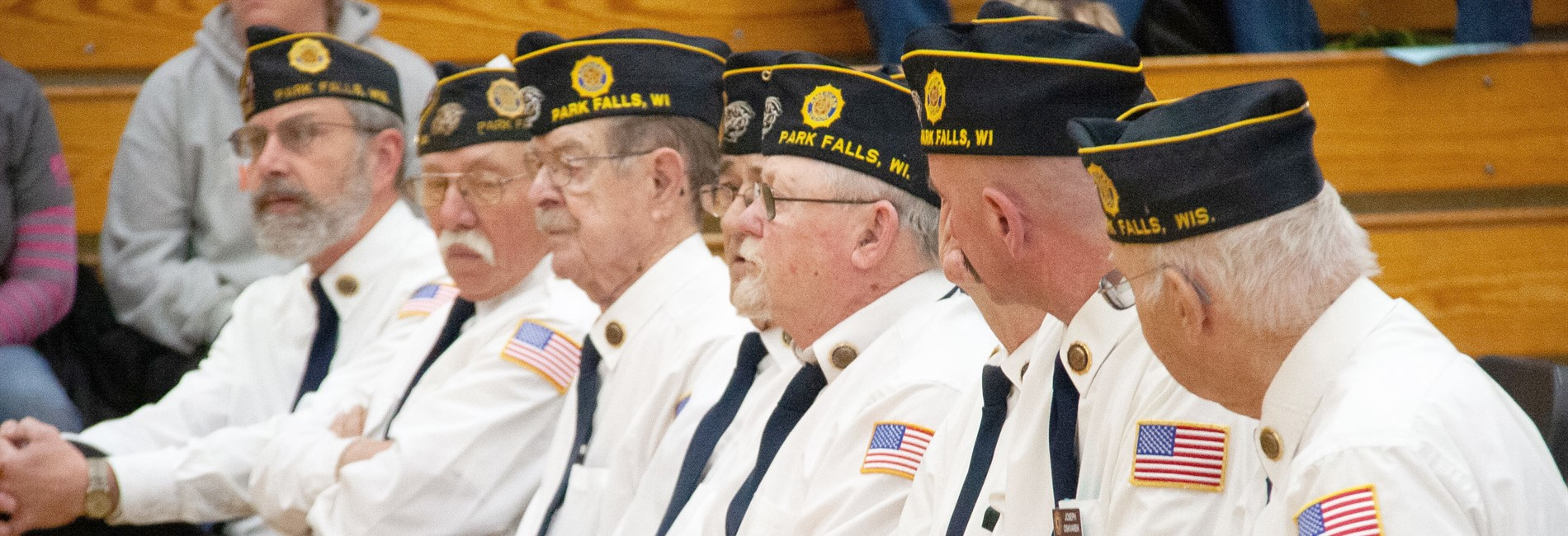 Veterans who took part in the Chequamegon School District Veteran's Day event